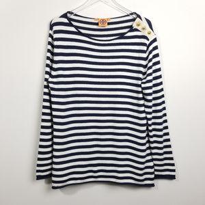 Tory Burch Striped Cashmere Blend Sweater